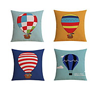 4 pcs High Quality Linen Pillow Case Body Pillow Travel Pillow Sofa Cushion Novelty PillowStill Life Graphic PrintsBeach Style Tropical