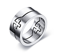 Men's Ring Basic Euramerican Fashion Personalized Simple Style Stainless Steel Circle Round Geometric Jewelry For Party Anniversary Birthday Gift