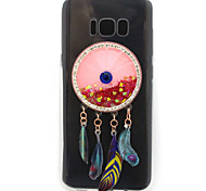 For Samsung Galaxy S8 Plus S8 Case Cover High Penetration TPU Material Wind Chimes Flash Powder Quicksand Diamond Phone Case S7 Edge S7