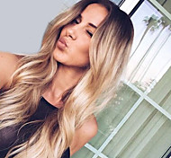 cheap -Synthetic Wig Natural Wave Middle Part 180% Density Synthetic Hair Fashionable Design / Fashion / Wedding Black / Blonde Wig Women's Long Capless / African American Wig