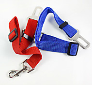 Dog Leash Hands Free Leash Car Seat Harness/Safety Harness Adjustable / Retractable Safety Training For Car Solid Fabric Alloy Red Blue