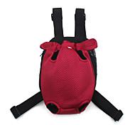 Cat Dog Front Backpack Pet Carrier Portable Breathable Soft Solid Hunter Green Red Dark Blue