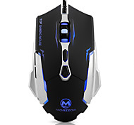 Wired Optical Professional Gaming Mouse LED Light 800/1200/1600/2400DPI 7 Buttons Metal Base for PC Desktop Laptop Gamer