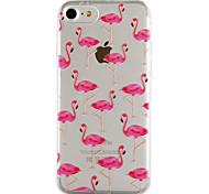 Недорогие -Для яблока iphone 7 7 плюс 6s 6 плюс se 5s 5 крышка фламинго картины капли клея лак высокое качество тпу материал чехол для телефона