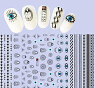 1pcs Fashion Personality Design Nail Art 3D Stickers Nail DIY Beauty Irregular Pattern Cartoon Eye Water Droplets Design Creative Decoration F166
