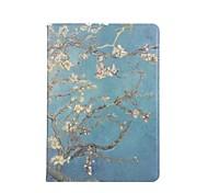 Недорогие -Кейс для Назначение Apple Бумажник для карт Кошелек Защита от удара со стендом С функцией автовывода из режима сна Флип Чехол дерево