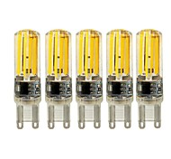 abordables -5pcs 4W 450 lm E14 G9 G4 Luces LED de Doble Pin T 4 leds COB Regulable Blanco Cálido Blanco AC 220-240V