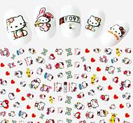 1pcs Fashion Lovely Cartoon Hello Kitty Beautiful Heart&Bow-knot Design Nail Art DIY Beauty 3D Stickers Cute Decoration F097