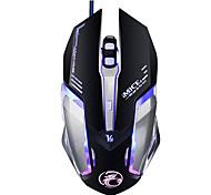 Professionelle benutzerdefinierte Programm verdrahtet Gaming Maus 4000dpi 6button führte optische Computer Spiel Maus Mäuse Gamer für PC