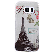 For Samsung Galaxy S8 S8 Plus Case Cove Tower Pattern Flash Powder IMD Process TPU Material Phone Case S7 S6 Edge
