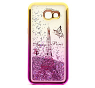 For Samsung Galaxy A5(2017) A3(2017) TPU Material Plating Laser Carving Quicksand Phone Case