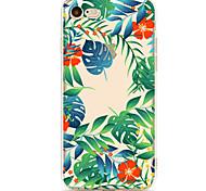 For Apple iPhone 7 7 Plus 6S 6 Plus Case Cover Green Leaf Safflower Pattern Painted High Penetration TPU Material Soft Case Phone Case