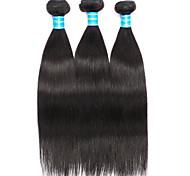 cheap -Brazilian Hair Straight Human Hair Weaves 3 Pieces Natural Color Hair Weaves