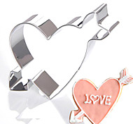 Cupid Arrow Heart Cookies Cutter Wedding Lover Stainless Steel Biscuit Cake Mold Metal Kitchen Fondant Baking Tools for Valentines
