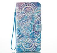 baratos -Capinha Para Apple iPhone X iPhone 8 Porta-Cartão Carteira Com Suporte Flip Estampada Capa Proteção Completa Mandala Rígida PU Leather