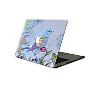 cheap -For New MacBook Pro 13 15 Air 11 13 Pro Retina 13 15 Macbook 12 Case Cover PVC Material Oil Painting Bird Flowers MacBook Case