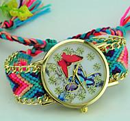 cheap -Women's Bracelet Watch Quartz Fabric Band Butterfly Bohemian Multi-Colored