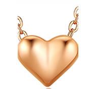 Women's Girls' Choker Necklaces Pendant Necklaces Chain Necklaces Synthetic Ruby Heart Alloy Basic Unique Design Dangling Style Pendant