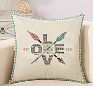 cheap -1 Pcs Creative LOVE Letter Arrows Pillow Cover Cotton/Linen 45*45Cm Pillow Case