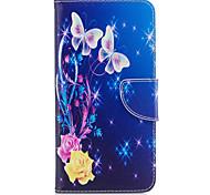 Для iphone 7plus 7 phone case pu кожаный материал желтый узор бабочки окрашенный корпус телефона 6s плюс 6plus 6s 6 se 5s 5