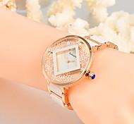 Mulheres Único Criativo relógio Relógio Casual Relógios Femininos com Cristais Relógio de Moda Relógio de Pulso Quartzo Lega Plastic Banda