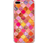 For Apple iPhone 7 7 Plus 6S 6 Plus Case Cover Red Diamond Pattern HD Painted TPU Material Soft Case Phone Case