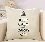 1 Pcs Keep Calm And Carry On Quotes & Sayings Printing Pillow Cover Creative Sofa Cushion Cover Pillow Case