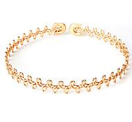 Недорогие -Жен. бесконечность Серебрянное покрытие Позолота Ожерелья-бархатки Заявление ожерелья  -  Английский США Elegant Круглый Геометрической