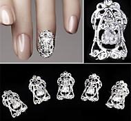 5 pc decorazione del chiodo della decorazione del chiodo del chiodo del diamante di zircon 5 pc