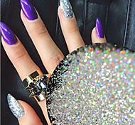 0.2g/bottle Fashion Silver Gorgeous Magic Galaxy Starry Effect Sparkling Power Decoration Nail Art DIY Shining Platinum Glitter Power BG26