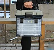 PPABS Big Plastic Handle Fishing Tackle Box Carp Fishing Tools Accessories 27*17*26cm