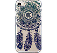 cheap -Case For Apple iPhone 8 iPhone 8 Plus Translucent Pattern Back Cover Dream Catcher Soft TPU for iPhone 8 Plus iPhone 8 iPhone 7 Plus