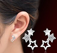 cheap -Women's Stud Earrings Crystal Adorable Crystal Alloy Star Jewelry Christmas Gifts Wedding Party Special Occasion Anniversary Birthday