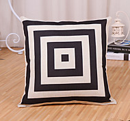 1 Pcs Geometry Square Frame Printing Pillowcase Fashion Pillow Cover Cotton/Linen Cushion Cover