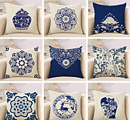 10 Design Blue And White Porcelain Style Printing Pillow Cover Classic Square Pillow Case Home Decor Cushion Cover