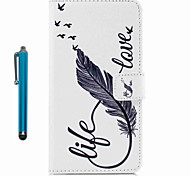 cheap -For Case Cover Pattern Full Body Case With Stylus Feathers Hard PU Leather for Apple ipod Touch 5 Touch 6