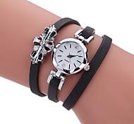 cheap -Women's Quartz Bracelet Watch Hot Sale PU Band Charm Luxury Creative Casual Unique Creative Watch Elegant Fashion Cool Black White Grey