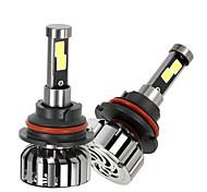 KKmoon Pair of 9007 HB5 DC 12V 40W 4000LM 6000K LED Headlight Lamp Kit Light Bulbs