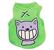 Cat Dog Shirt / T-Shirt Vest Dog Clothes Casual/Daily Animal Blue Green Ruby Orange