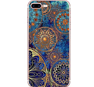 abordables -Para iPhone 8 iPhone 8 Plus Carcasa Funda Diseños Cubierta Trasera Funda Mandala Suave TPU para Apple iPhone 8 Plus iPhone 8 iPhone 7