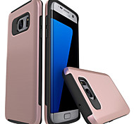 For Samsung Galaxy S7 Edge S6 Edge Case Cover The Plastic with TPU Frame Cases
