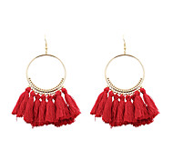 cheap -Women's Drop Earrings Jewelry Tassel Personalized Euramerican Costume Jewelry Fashion Poly/Cotton Alloy Circle Jewelry For Wedding