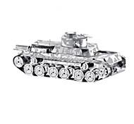 Недорогие -3D пазлы Пазлы Наборы для моделирования Игрушки Танк Военные корабли Летательный аппарат 3D Своими руками Нержавеющая сталь Металл Из