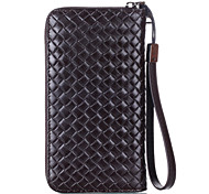 Case for iPhone 7 Plus 6 Plus 5.5 inches below the general use Leather woven mobile phone bag  for iPhone 7 6s 6 5