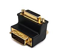abordables -DVI Adaptador, DVI to DVI Adaptador Macho - Hembra 1080P Cobre dorado 1.0 Gbps
