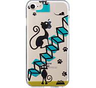 Недорогие -Для яблока iphone 7 плюс 7 черных кошачьих узоров чехол задняя крышка мягкий tpu для iphone 6s плюс 6 плюс 6s 6s 6 5 5s se