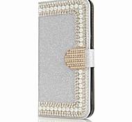 abordables -Funda Para Samsung Galaxy S8 Plus S8 Cartera Soporte de Coche Diamantes Sintéticos con Soporte Flip Magnética Cuerpo Entero Dura para S8