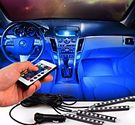 cheap -1set LED Gadgets LED Night Light Car Chargers Remote Control / RC Small Size Color-Changing