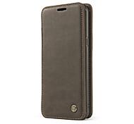 Недорогие -Кейс для Назначение SSamsung Galaxy S8 Plus S8 Бумажник для карт Кошелек Защита от удара со стендом Кольца-держатели Флип Чехол Сплошной