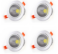 4pcs 5W COB Led Downlight Recessed Lamp Home Led Epistar Spot LED Downlights Warm White Cool White Decoration Light Adjustable AC85-265V